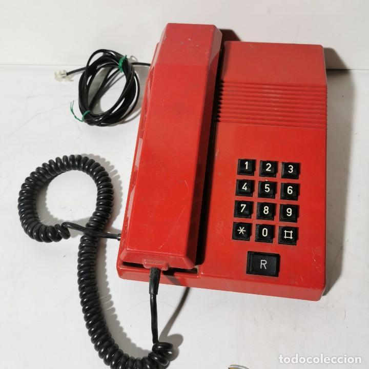 TELEFONO ANTIGUO VINTAGE DE SOBREMESA TEIDE - TELEFONICA - AMPER - ROJO - CNTE - NUNCA PROBADO (Antigüedades - Técnicas - Teléfonos Antiguos)