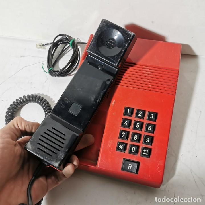 Teléfonos: TELEFONO ANTIGUO VINTAGE DE SOBREMESA TEIDE - TELEFONICA - AMPER - ROJO - CNTE - NUNCA PROBADO - Foto 2 - 229221375