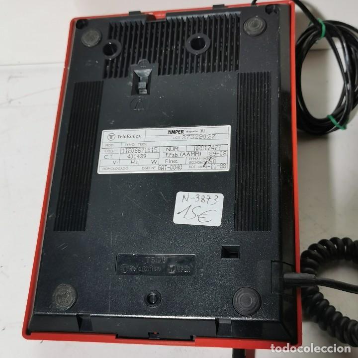 Teléfonos: TELEFONO ANTIGUO VINTAGE DE SOBREMESA TEIDE - TELEFONICA - AMPER - ROJO - CNTE - NUNCA PROBADO - Foto 4 - 229221375