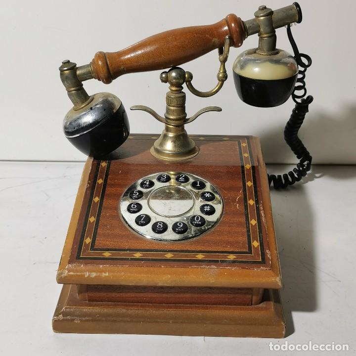 TELEFONO ANTIGUO VINTAGE DE SOBREMESA - REPRODUCCIÓN - ADAPTADO A LA CONEXIÓN ACTUAL - FUNCIONANDO (Antigüedades - Técnicas - Teléfonos Antiguos)