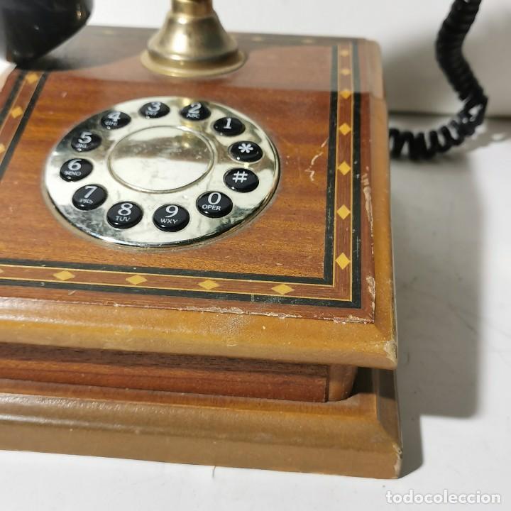 Teléfonos: TELEFONO ANTIGUO VINTAGE DE SOBREMESA - REPRODUCCIÓN - ADAPTADO A LA CONEXIÓN ACTUAL - FUNCIONANDO - Foto 4 - 229221820