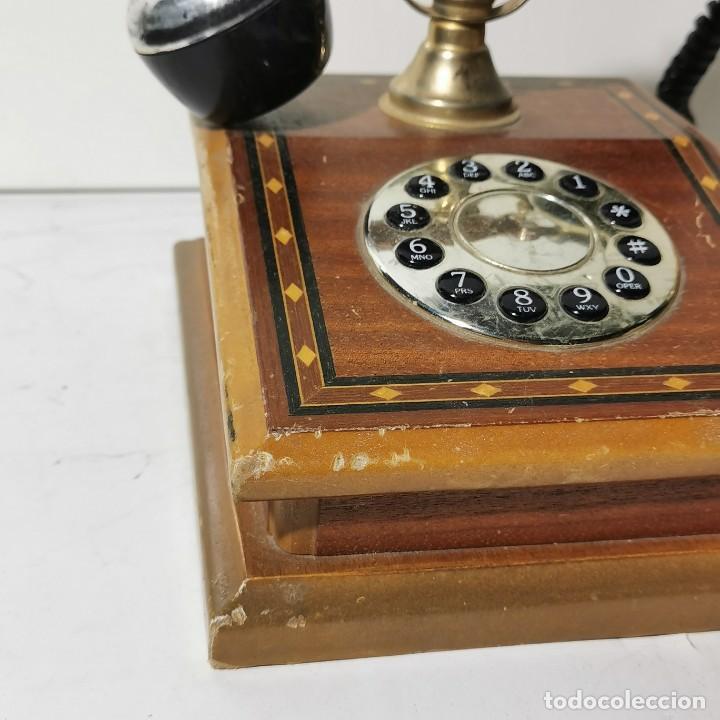 Teléfonos: TELEFONO ANTIGUO VINTAGE DE SOBREMESA - REPRODUCCIÓN - ADAPTADO A LA CONEXIÓN ACTUAL - FUNCIONANDO - Foto 5 - 229221820