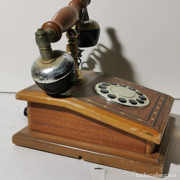 Teléfonos: TELEFONO ANTIGUO VINTAGE DE SOBREMESA - REPRODUCCIÓN - ADAPTADO A LA CONEXIÓN ACTUAL - FUNCIONANDO - Foto 6 - 229221820