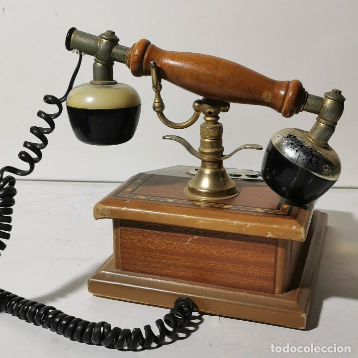 Teléfonos: TELEFONO ANTIGUO VINTAGE DE SOBREMESA - REPRODUCCIÓN - ADAPTADO A LA CONEXIÓN ACTUAL - FUNCIONANDO - Foto 7 - 229221820