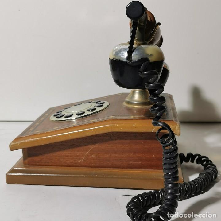 Teléfonos: TELEFONO ANTIGUO VINTAGE DE SOBREMESA - REPRODUCCIÓN - ADAPTADO A LA CONEXIÓN ACTUAL - FUNCIONANDO - Foto 8 - 229221820