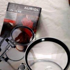 Antigüedades: LUPA DE MESA METAL AURIOL. Lote 229329980