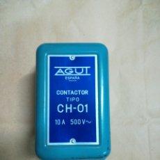 Antigüedades: CONTACTOR ELÉCTRICO AGUT CH-01 10A 500V. Lote 229395865