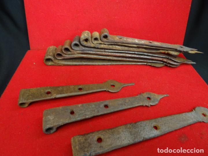Antigüedades: Diez bisagras de hierro forja, siglo XVIII - Foto 8 - 229529910