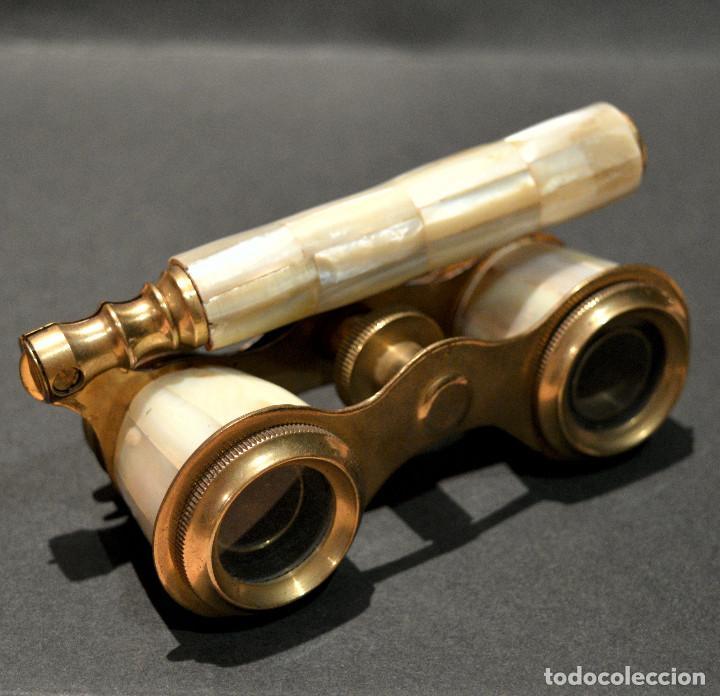 Antigüedades: ANTIGUOS PRISMATICOS BINOCULARES EN NACAR OPERA O TEATRO - Foto 2 - 229599925