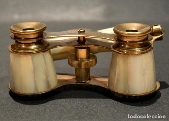 Antigüedades: ANTIGUOS PRISMATICOS BINOCULARES EN NACAR OPERA O TEATRO - Foto 12 - 229599925