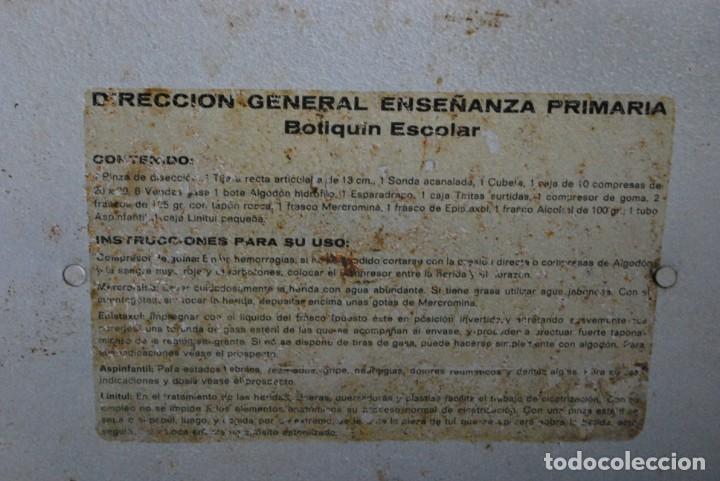 Antigüedades: BOTIQUÍN ESCOLAR SANS - PRIMARIA - MALETA DE METAL - MALETÍN - COLEGIO - ESCUELA - Foto 14 - 229611330