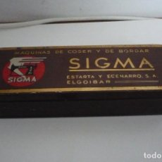 Antigüedades: CAJA UTENSILIOS SIGMA VACIA. Lote 229825585