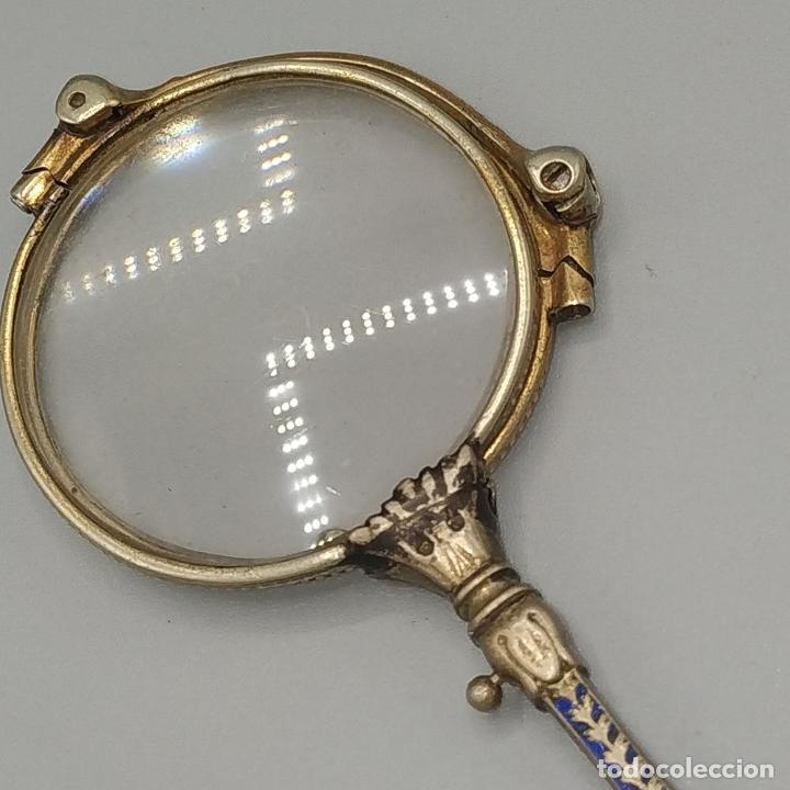 Antigüedades: IMPERTINENTES. DESPLEGABLES. METAL ESMALTADO. CRISTAL. ESPAÑA. SIGLO XIX - Foto 9 - 230177450