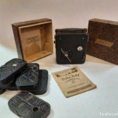 Antigüedades: TOMAVISTAS PATHÉ, PELÍCULAS, CAJA E INSTRUCCIONES. IMPECABLE.. Lote 230199710