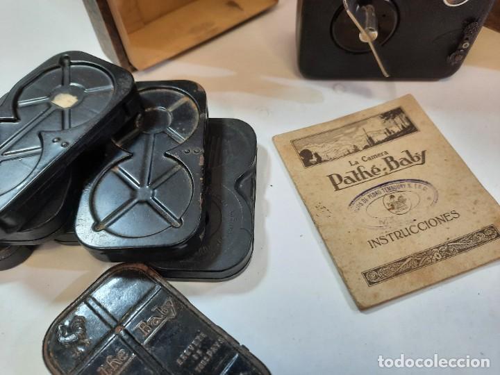 Antigüedades: Tomavistas Pathé, películas, caja e instrucciones. Impecable. - Foto 2 - 230199710