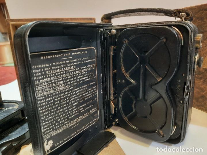 Antigüedades: Tomavistas Pathé, películas, caja e instrucciones. Impecable. - Foto 10 - 230199710