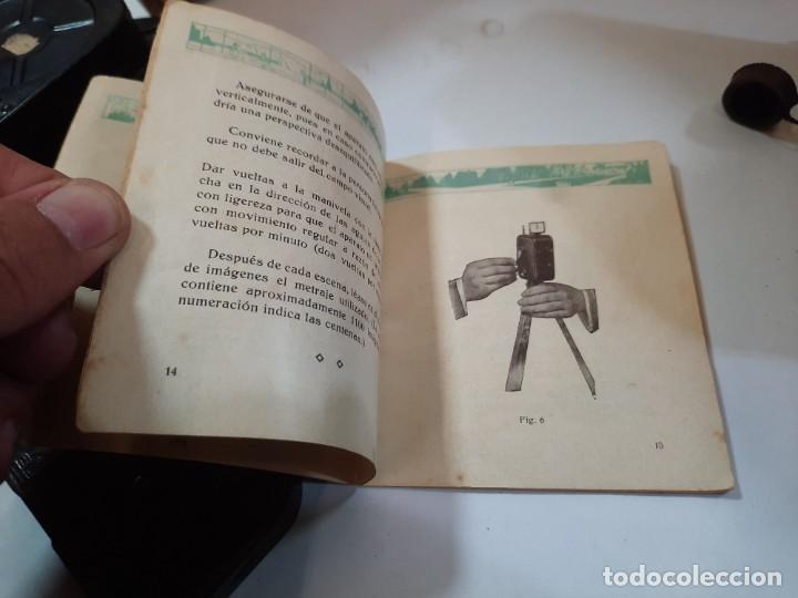 Antigüedades: Tomavistas Pathé, películas, caja e instrucciones. Impecable. - Foto 13 - 230199710