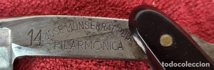 Antigüedades: NAVAJA DE AFEITAR. JOSE MONTSERRAT POU. FILARMONICA. Nº 14. ESPAÑA. CIRCA 1960. - Foto 10 - 230318530