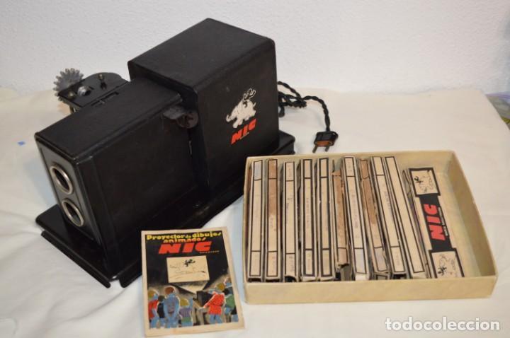 Antigüedades: Cine NIC / Gran tamaño / Original, años 30/40 - Con instrucciones / Regalo películas - ¡Funcionando! - Foto 2 - 230439405