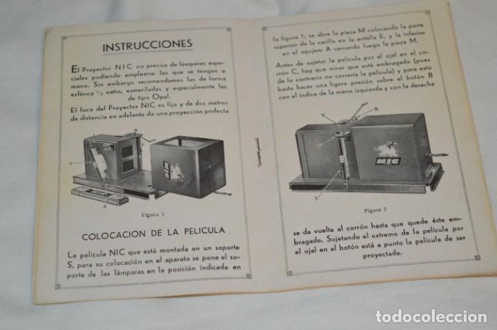 Antigüedades: Cine NIC / Gran tamaño / Original, años 30/40 - Con instrucciones / Regalo películas - ¡Funcionando! - Foto 14 - 230439405