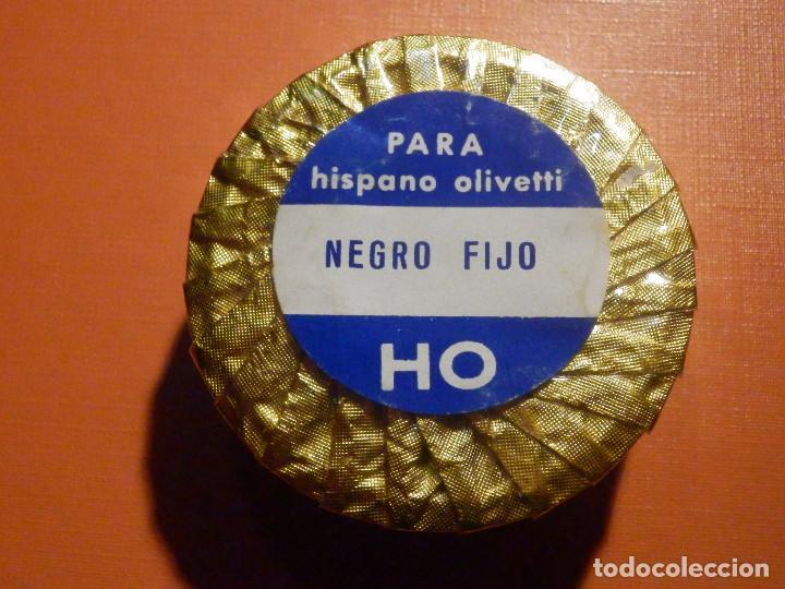 Antigüedades: Cinta mecanográfica para máquina de Escribir Hispano Olivetti - Negro fijo HO - 13 mm - Nueva - Foto 2 - 230482565