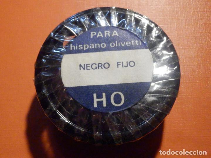 Antigüedades: Cinta mecanográfica para máquina de Escribir Hispano Olivetti - Negro fijo HO - 13 m/m - Nueva - Foto 2 - 230482680