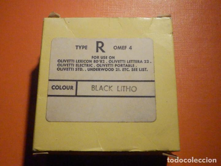 Antigüedades: Cinta mecanográfica para máquinas de Escribir Olivetti - Underwood 21 Negro Black LitHO, Nueva - Foto 2 - 230482920