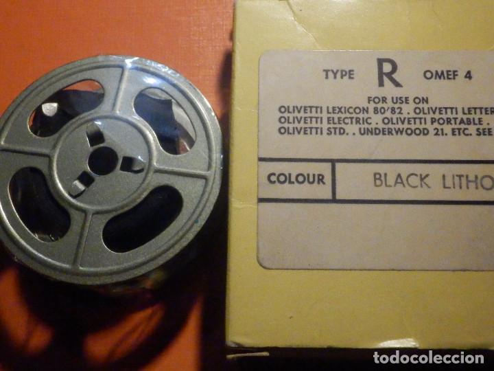 Antigüedades: Cinta mecanográfica para máquinas de Escribir Olivetti - Underwood 21 Negro Black LitHO, Nueva - Foto 5 - 230482920
