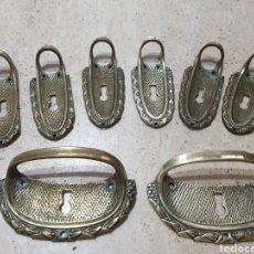 Antigüedades: TIRADORES 8 BOCALLAVES REF: 024. Lote 230496830