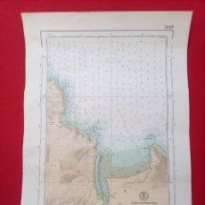 Antigüedades: CARTA NÁUTICA PUERTOS DE EL PUNTAL Y TAZONES. Lote 230525590
