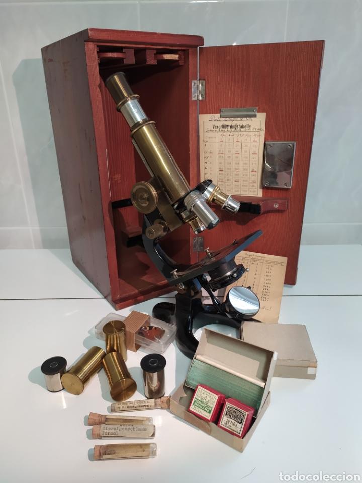 ANTIGUO COMPLETO MICROSCOPIO G H R KREMP N 559 WETZLAR (Antigüedades - Técnicas - Instrumentos Ópticos - Microscopios Antiguos)