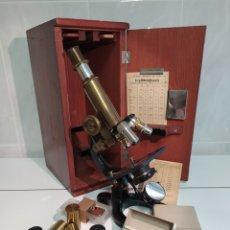 Antiguidades: ANTIGUO COMPLETO MICROSCOPIO G H R KREMP N 559 WETZLAR. Lote 230543305