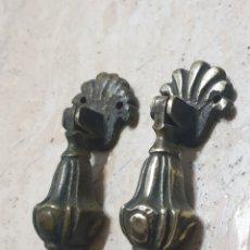 Antigüedades: 2 TIRADORES BRONCE ANTIG. REF. 136. Lote 230557705