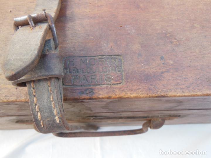 Antigüedades: TEODOLITO ANTIGUO H MORIN, PARIS, en su caja original - Foto 2 - 230720250