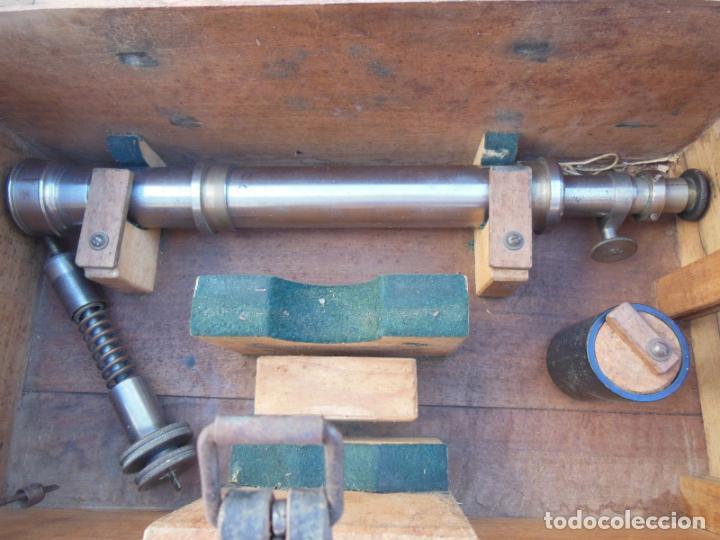 Antigüedades: TEODOLITO ANTIGUO H MORIN, PARIS, en su caja original - Foto 5 - 230720250