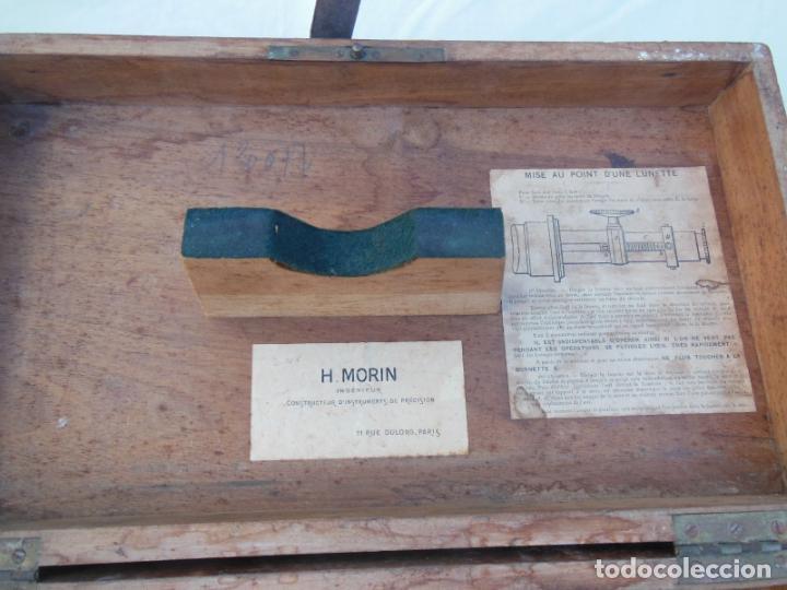 Antigüedades: TEODOLITO ANTIGUO H MORIN, PARIS, en su caja original - Foto 6 - 230720250