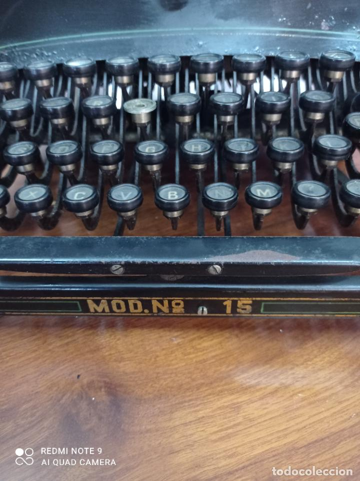 Antigüedades: MAQUINA DE ESCRIBIR ADLER MODELO 15, AÑO 1919. PRECIOSA. VER FOTOS - Foto 6 - 230782765