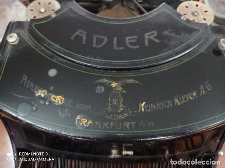 Antigüedades: MAQUINA DE ESCRIBIR ADLER MODELO 15, AÑO 1919. PRECIOSA. VER FOTOS - Foto 7 - 230782765