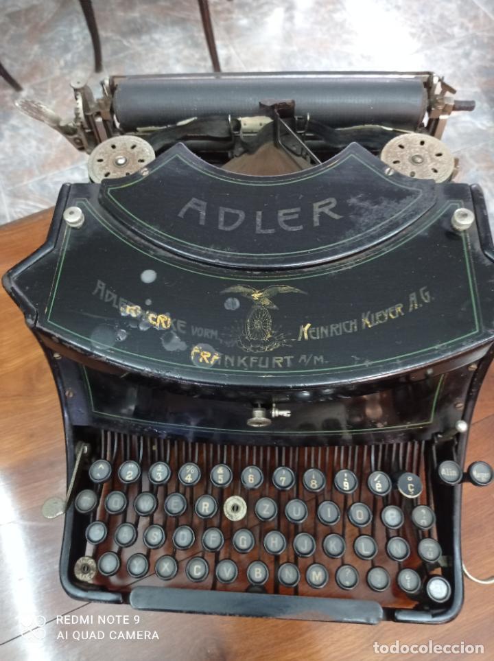 MAQUINA DE ESCRIBIR ADLER MODELO 15, AÑO 1919. PRECIOSA. VER FOTOS (Antigüedades - Técnicas - Máquinas de Escribir Antiguas - Otras)