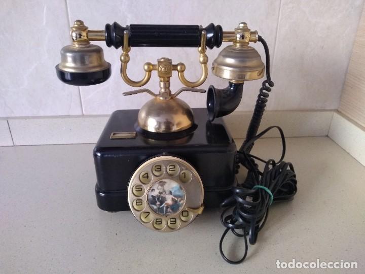 ANTIGUO TELEFONO ELASA GOYA. FUNCIONA. ADAPTADO (Antigüedades - Técnicas - Teléfonos Antiguos)