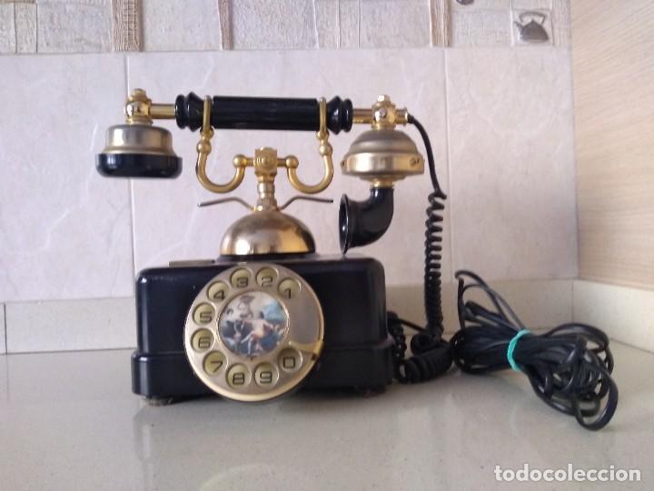 Teléfonos: Antiguo telefono Elasa Goya. Funciona. Adaptado - Foto 3 - 230843915