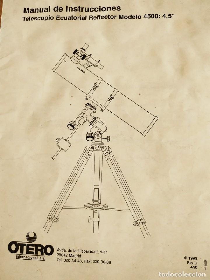 Antigüedades: Telescopio Ecuatorial Reflector japonés - Foto 18 - 230862490