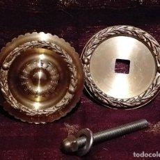 Antigüedades: ANTIGUO POMO DE PUERTA EN BRONCE FABRICADO EN ESPAÑA - MUY BUEN ESTADO . COMPLETO.. Lote 231082650