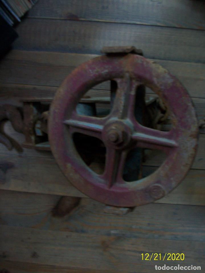 Antigüedades: ANTIGUO POLIPASTO - Foto 5 - 231243300
