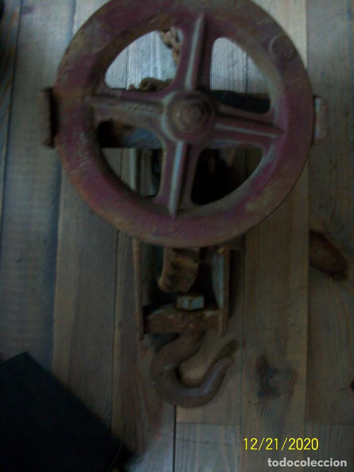 Antigüedades: ANTIGUO POLIPASTO - Foto 6 - 231243300
