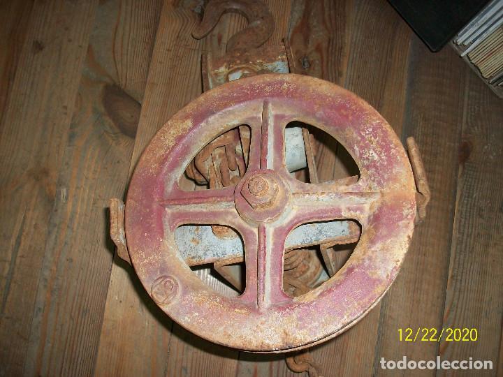 Antigüedades: ANTIGUO POLIPASTO - Foto 9 - 231243300