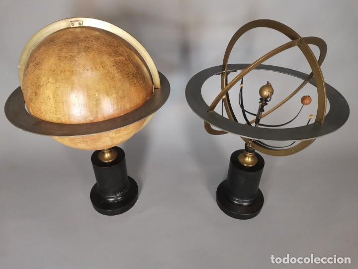 Antigüedades: PAREJA DE GLOBO Y PLANETARIO 1853 - Foto 11 - 231450985