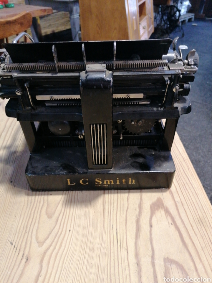 Antigüedades: Máquina de escribir L C. S m i t h - Foto 4 - 231492835
