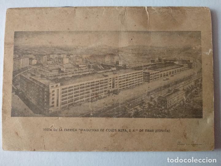 Antigüedades: INSTRUCCIONES PARA EL USO DE LA MÁQUINA DE COSER Y BORDAR ALFA - Foto 2 - 231496230