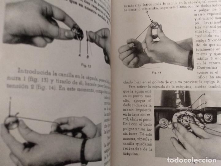 Antigüedades: INSTRUCCIONES PARA EL USO DE LA MÁQUINA DE COSER Y BORDAR ALFA - Foto 4 - 231496230